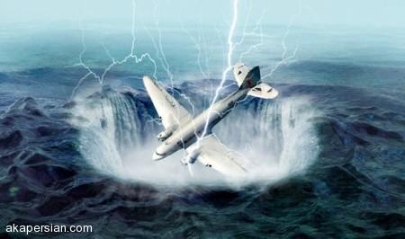 دلیل بلعیدن هواپیماها و کشتی های غول پیکر توسط مثلث برمودا