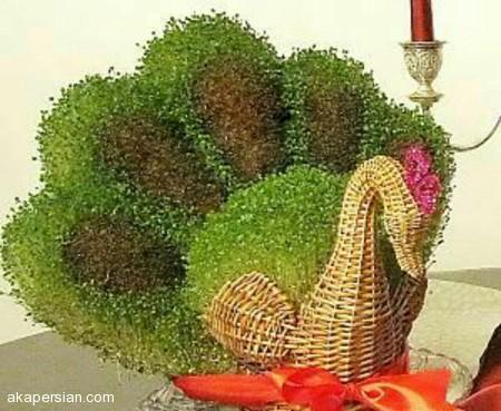آموزش درست کردن سبزه به شکل طاووس