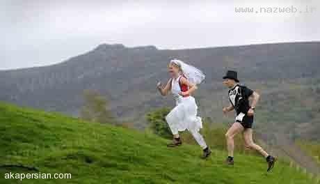 اقدام جالب و دیدنی یک عروس و داماد + عکس