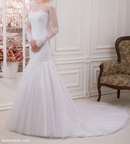 شیک ترین مدل لباس های عروس آستین دار با حجاب