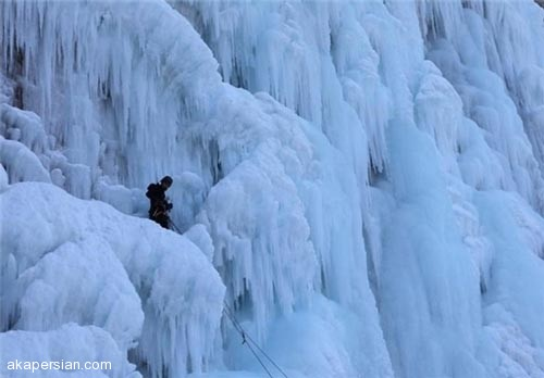 زیباترین آبشارهای منجمد و حیرت انگیز (تصاویر)