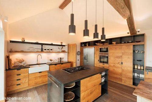 دکوراسیون آشپزخانه سبک روستیک