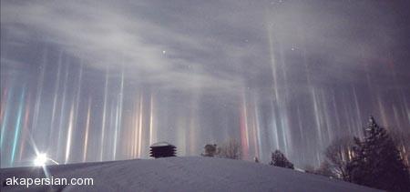 ستونهای نوری مرموز و جالب کانادا را بشناسید (عکس)