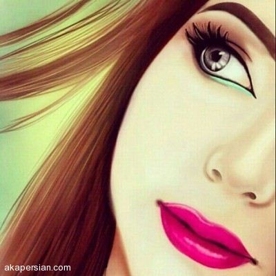 عکس نقاشی عاشقانه پروفایل دخترانه