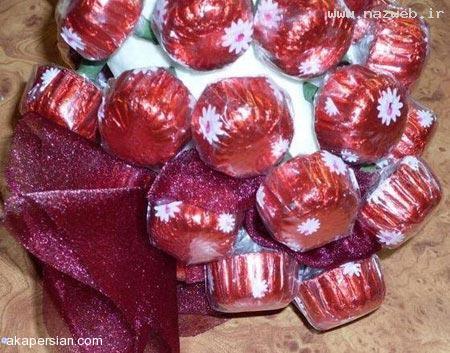تزئین شکلات شبیه خوشه انگور + آموزش تصویری