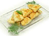 طرز تهیه ی شیرینی پنیر مثلثی
